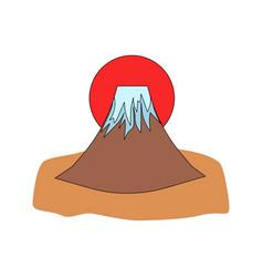 Mount fuji icon vector