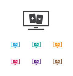 of game symbol on cards icon vector image