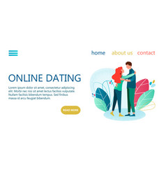 Online dating banner vector