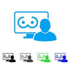 Online erotics viewer user icon vector