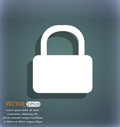 Pad Lock icon symbol on the blue-green abstract vector
