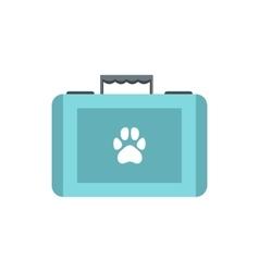 Pet first aid kit icon flat style vector image