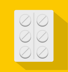 Pills icon flat style vector