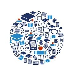 reading icons in circle vector image vector image