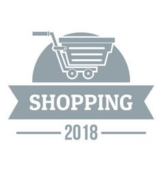 Shopping logo simple gray style vector