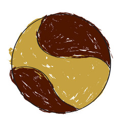 sketch of a handball ball vector image