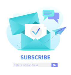 Subscribe to our newsletter square web banner vector