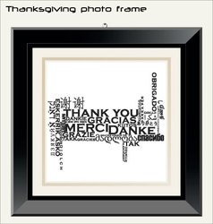 thanksgiving photo frame vector image