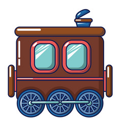 Three wheel wagon icon cartoon style vector