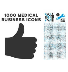 Thumb up icon with 1000 medical business vector