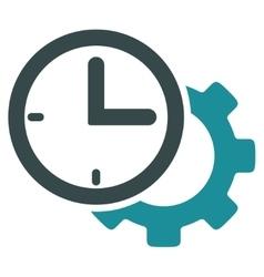 Time Setup Flat Icon vector