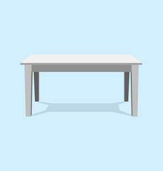white table platform stand template for object vector image