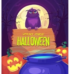 Witch crafting pot vector image vector image