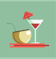 cocktails on the server vector image vector image
