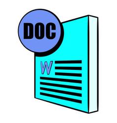 doc file icon cartoon vector image vector image