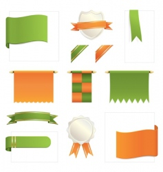 green and orange design elements vector image vector image