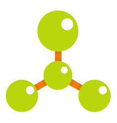 green molecule structure dna icon isolated vector image vector image