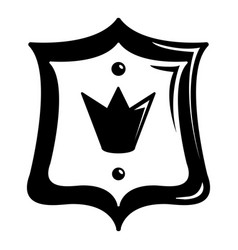 royal shield icon simple black style vector image