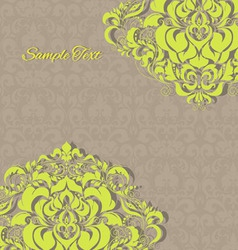 vintage invitation floral card EPS 10 vector image