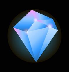 big precious diamond vector image vector image