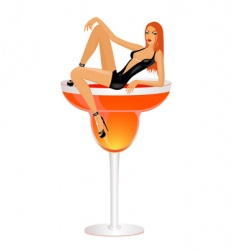 fashion cocktail vector image vector image