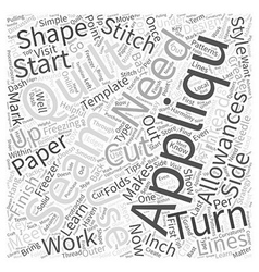 How to seam allowances in quilt craft word cloud vector