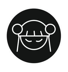 japan anime manga girl icon isolated vector image