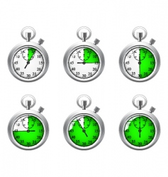 stopwatch object vector image vector image