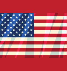 usa flag stars stripes american symbol of freedom vector image vector image