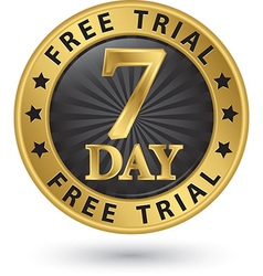 7 day free trial golden label vector image vector image