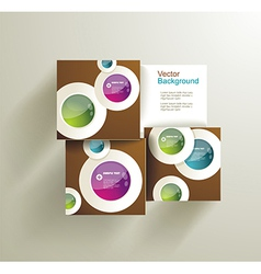 Abstract Circles for infographics vector image vector image