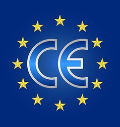 CE mark of quality conformity marking sign vector image