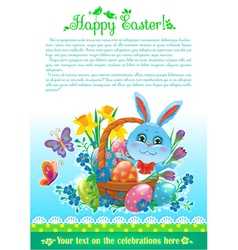 Easter design with text vector image
