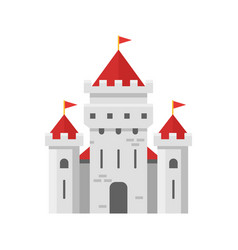 flat style of fairy castle vector image
