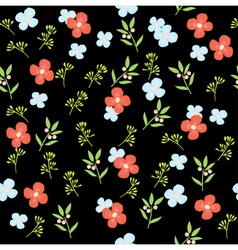 floral pattern dark vector image vector image