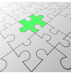 Green puzzle background vector image
