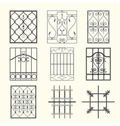 Iron window grills vector image vector image