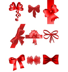set of ribbon vector image vector image