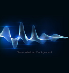 sound wave abstract background audio waveform vector image