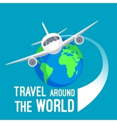 Travel around world by fast means of vector image