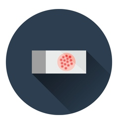 Bacterium glass icon vector image