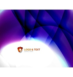 Blue blurred waves with purple glowing vector image vector image