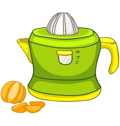 cartoon home kitchen juicer vector image vector image