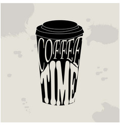 coffee time hipster vintage vector image vector image