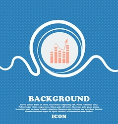 Graph icon sign Blue and white abstract background vector image