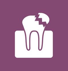 Icon broken tooth vector