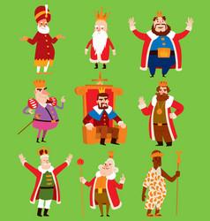 king set fantasy royalty vector image