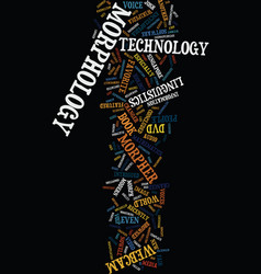 morphology the new technology jargon text vector image vector image