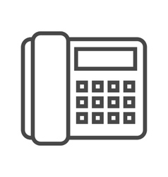 Office Phone Line Icon vector image vector image