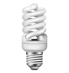 photo-realistic energy saving bulb vector image